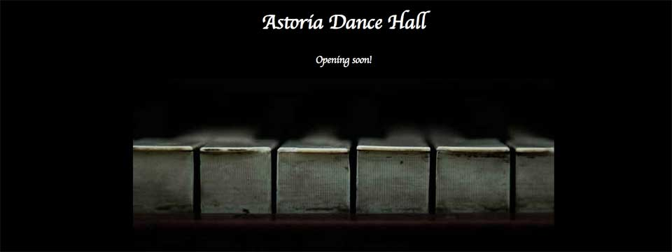 page d'attent du site astoriadancehall.com