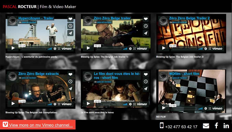 Copie d'écran du site rocteur.be (2020)